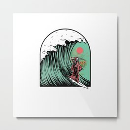 Surfing On My Mind Metal Print