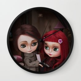 Erregiro Blythe Custom Doll Lisbeth & Edward based on Benjamin Lacombe tale Wall Clock