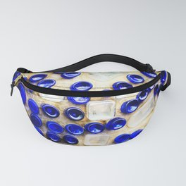 Colored Glass Bottle Wall 2 Fanny Pack