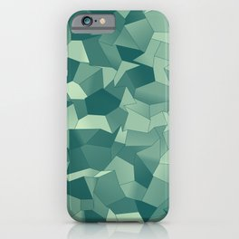 Geometric Shapes Fragments Pattern gr iPhone Case