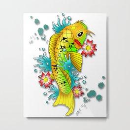Abstract Water Lights Metal Print