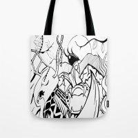 safari Tote Bags featuring Safari by Nozza