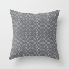 Sophisticated Circles Throw Pillow
