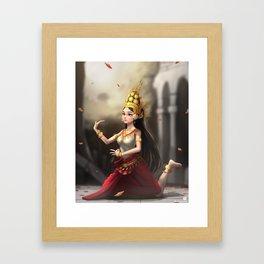 Apsara Dancer Framed Art Print