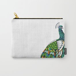 Ornate Peacock Color Carry-All Pouch