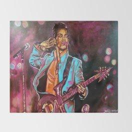 Purple Funk Throw Blanket