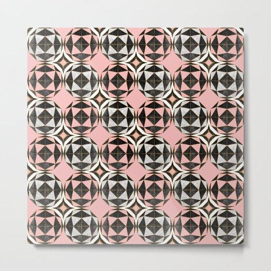 Geodesic Optic Roses Metal Print