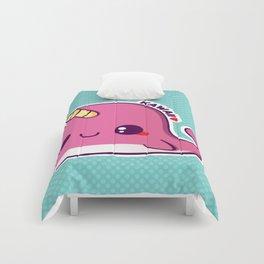 Kawaii Pink Narwhal Comforters