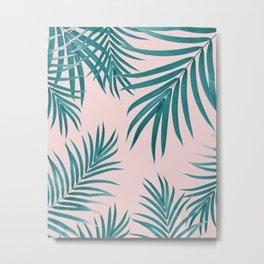 Palm Leaves Pattern Summer Vibes #1 #tropical #decor #art #society6 Metal Print