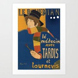 Le Bohemian Doctor Who by Lautrec Art Print