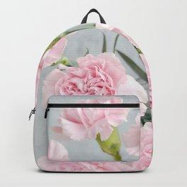 Elegant modern blush pink green carnations floral Backpack