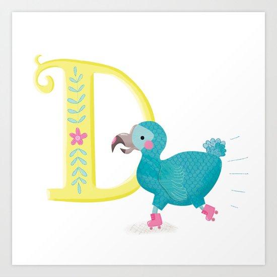 D is for Dodo Art Print