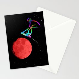 Moon Grabber - Stunt Scooter Rider Stationery Cards
