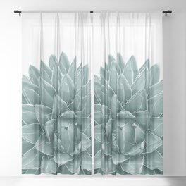 Green Agave Chic #1 #succulent #decor #art #society6 Sheer Curtain