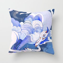 Cirrus - the cloud dog Throw Pillow