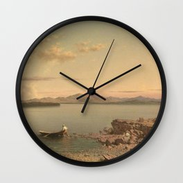 Lake George 1862 By Martin Johnson Heade | Reproduction Wall Clock