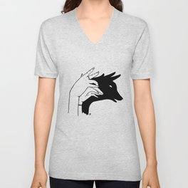 Deer shadow Unisex V-Neck