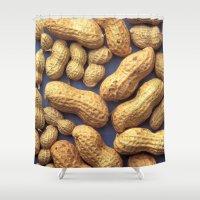 peanuts Shower Curtains featuring Peanuts by BravuraMedia