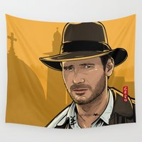 indiana Wall Tapestries featuring Indiana by Akyanyme