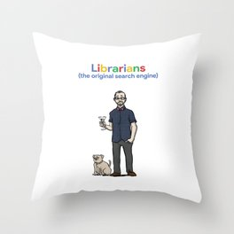 Librarians (the original search engine) Throw Pillow