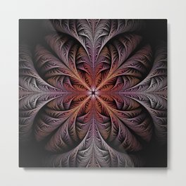 Fractal Feathers Metal Print