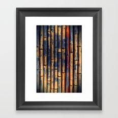 Bamboo Fence Framed Art Print