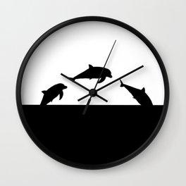 Dolfin Jumps Wall Clock
