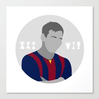 messi Canvas Prints featuring Messi by fabifa