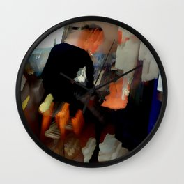 Artist At Work Wall Clock