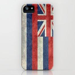 Hawaiian Flag in Vintage Retro Style iPhone Case