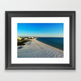 Beach Drone Shot Framed Art Print