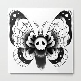 Goth Moth III Metal Print