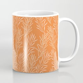 Beautiful Terracotta Orange Leaf Pattern Coffee Mug