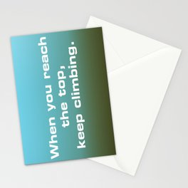 Reach the Top Stationery Cards