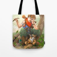 camp Tote Bags featuring camp by Fargon