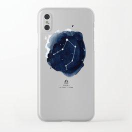 Zodiac Star Constellation - Libra Clear iPhone Case