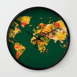 World Map 38 Wall Clock