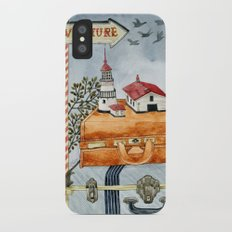 Suitcases are ready iPhone X Slim Case