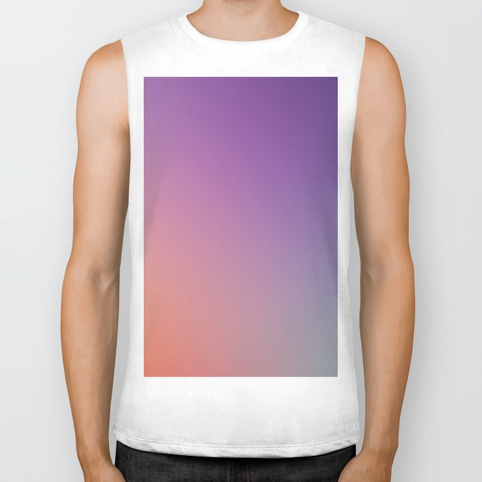GUILTY  CONSCIENCE - Minimal Plain Soft Mood Color Blend Prints Biker Tank
