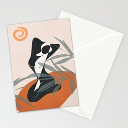 Abstract Female Figure 21 Stationery Cards