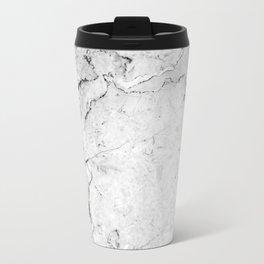 Marble texture Dark Gray Travel Mug