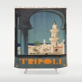 Vintage poster - Tripoli Shower Curtain