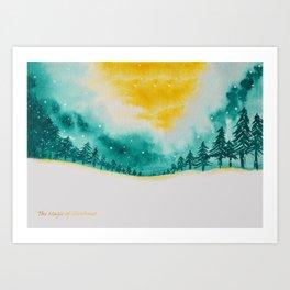 Magic of snow Art Print