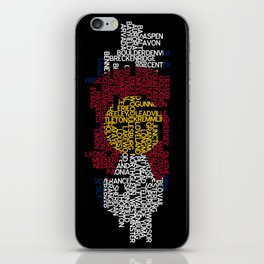 Colorado Cities in Flag iPhone Skin