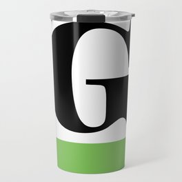Monogram Letter G (color block) Travel Mug