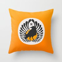 volleyball Throw Pillows featuring Karasuno High Volleyball Club by robin
