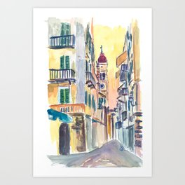 Marvellous Corfu Streets in Greece Art Print