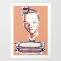 elvis presley Art Prints featuring Elvis Presley by Diego Abelenda
