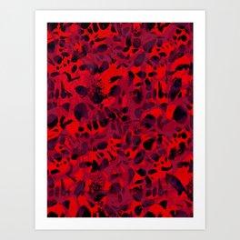 Red Leopard Art Print