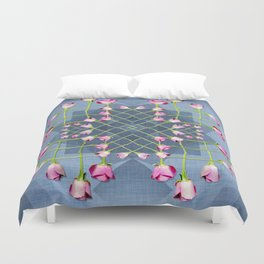 A square of Roses Duvet Cover